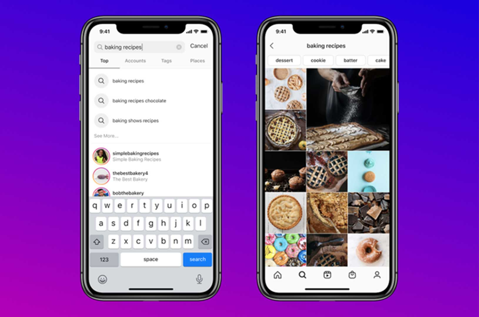 Instagram Keyword Search Function Preview
